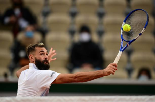 Benoit Paire in action ahead of the ATP Cologne Indoors