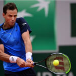 Vasek Pospisil in action ahead of the ATP St Petersburg Open