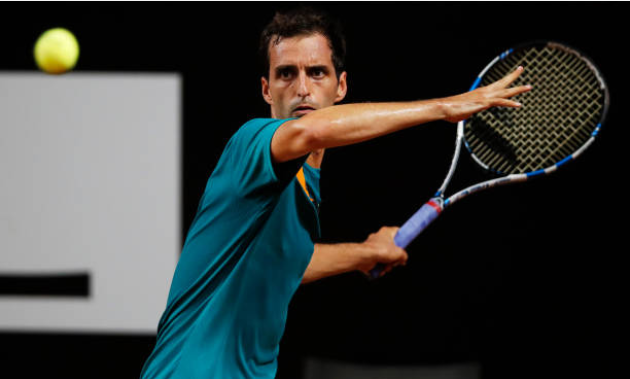 Albert Ramos Vinolas in action ahead of the ATP European Open