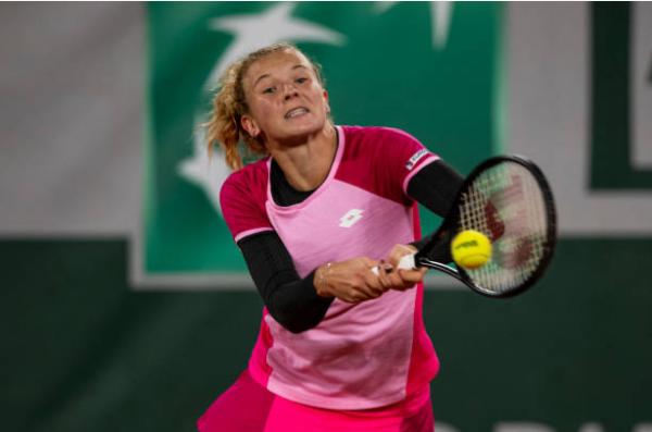 Katerina Siniakova in action ahead of the WTA Ostrava Open