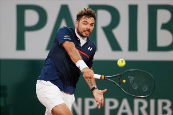 Stan Wawrinka in action ahead of the ATP St Petersburg Open