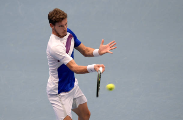Pablo Carreno Busta in action ahead of the ATP Paris Masters