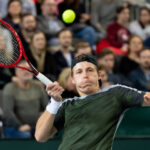 Ilya Ivashka in action on the ATP Challenger Tour