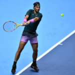 Rafael Nadal in action at the ATP Finals