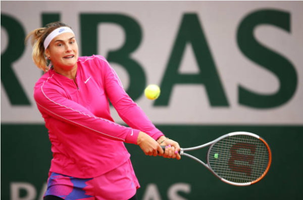 Aryna Sabalenka in action ahead of the WTA Linz Open