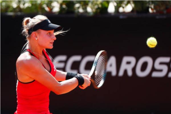 Dayana Yastremska in action ahead of the WTA Linz Open