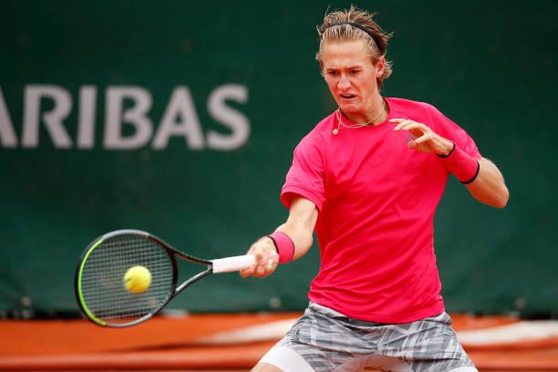 Sebastian Korda in action on the Challenger Tour