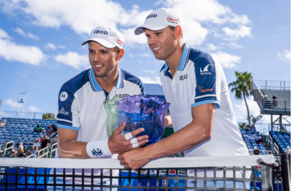 Bob & Mike Bryan, winners of Vithun Illankovan's 2020 Lifetime Tennis Achievement Award