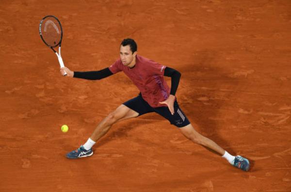 Daniel Elahi Galan in action on the ATP Challenger Tour