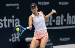 Irina-Camelia Begu in action ahead of the WTA Gippsland Trophy