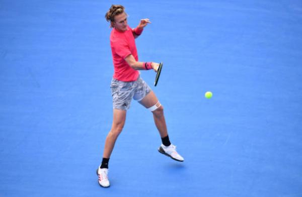 Sebastian Korda in action on the ATP Challenger Tour