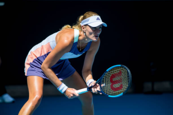 Kristina Mladenovic in action ahead of the WTA Yarra Valley Classic