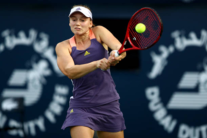 Elena Rybakina in action ahead of the WTA Abu Dhabi Open