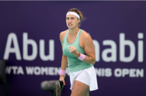 Aryna Sabalenka at the WTA Abu Dhabi Open