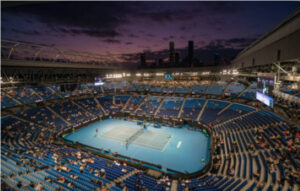 Action from the Australian Open