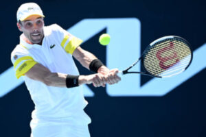 Roberto Bautista Agut in action ahead of the ATP Montpellier Open