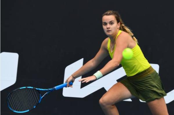 Clara Burel in action ahead of the Australian Open