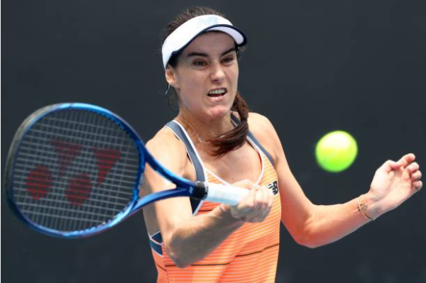 Sorana Cirstea in action ahead of the Australian Open