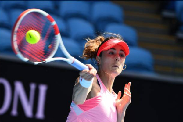 Alize Cornet in action at the Australian Open