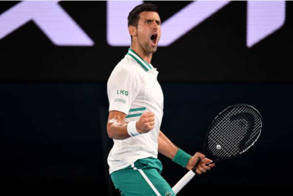 Novak Djokovic returned to the Australian Open final after beating Aslan Karatsev.
