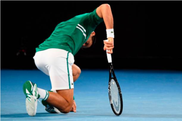 Novak Djokovic battling with injury at the Australian Open