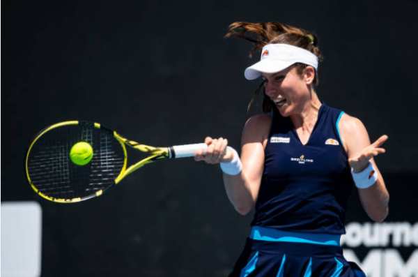 Johanna Konta in action ahead of the Australian Open