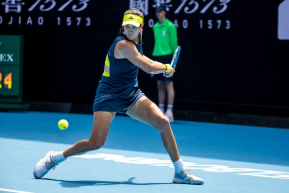 Garbine Muguruza in action at the Australian Open