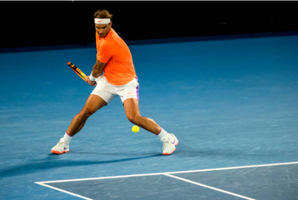 Rafael Nadal in action at the Australian Open