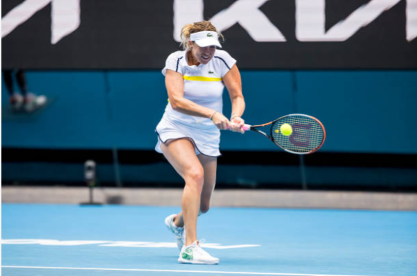 Anastasia Pavlyuchenkova in action at the WTA Phillip Island Trophy