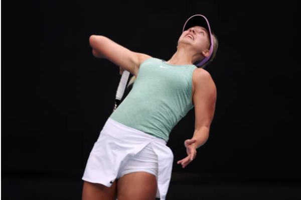 Anastasia Potapova in action ahead of the Australian Open