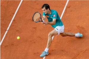 Albert Ramos Vinolas in action at the ATP Cordoba Open