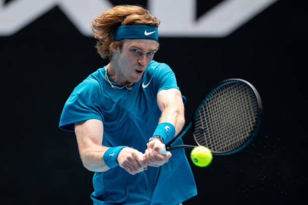 Andrey Rublev in action at the Australian Open