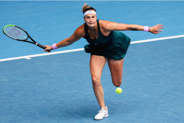 Aryna Sabalenka in action ahead of the Australian Open