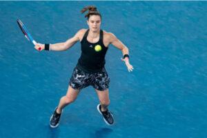 Maria Sakkari in action at the WTA Grampians Trophy
