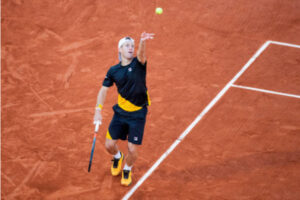 Diego Schwartzman in action at the ATP Cordoba Open