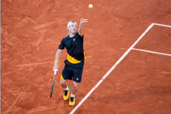 Diego Schwartzman in action at the ATP Cordoba Open