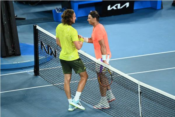 Stefanos Tsitsipas defeats Rafael Nadal at the Australian Open