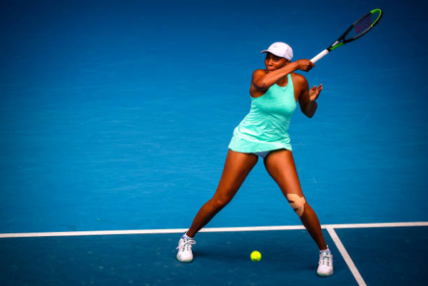 Venus Williams in action at the Australian Open