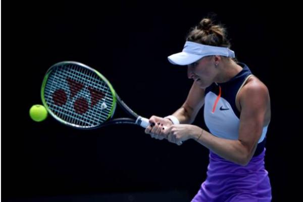 Marketa Vondrousova in action at the Australian Open