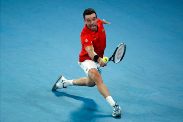 Roberto Bautista Agut in action ahead of the ATP Qatar Open.