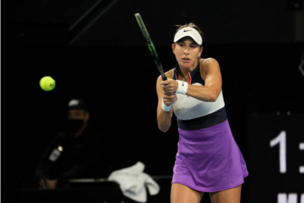 Belinda Bencic in action at the WTA Miami Open.
