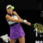 Belinda Bencic in action ahead of the WTA Qatar Open