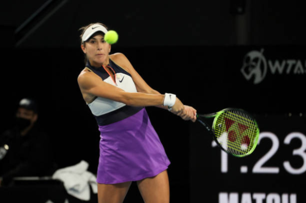 Belinda Bencic in action ahead of the WTA Qatar Open