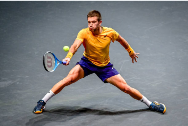Borna Coric in action at the ATP Rotterdam Open
