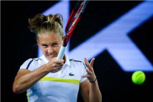 Fiona Ferro in action ahead of the WTA Lyon Open.