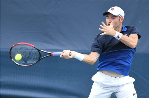 Bjorn Fratangelo in action on the ATP Challenger Tour.