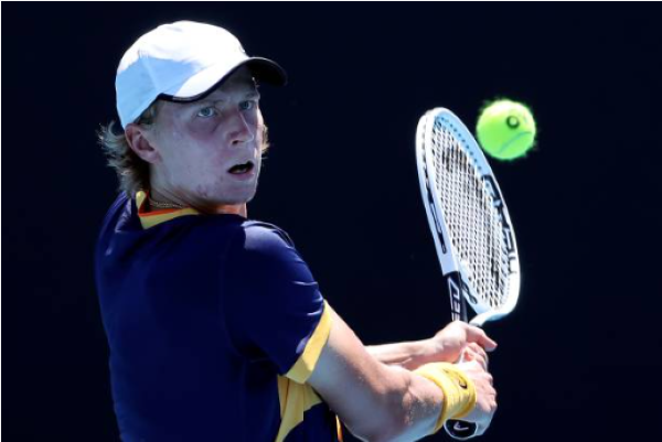 Emil Ruusuvuori in action ahead of the ATP Dubai Tennis Championships.