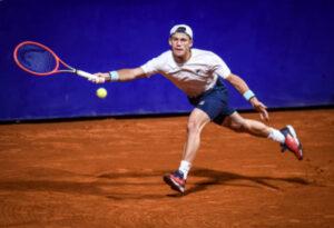 Diego Schwartzman in action at the ATP Argentina Open
