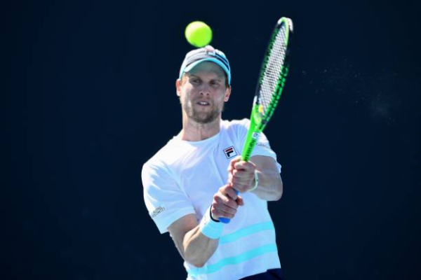Andreas Seppi in action on the ATP Challenger Tour