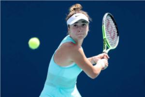 Elina Svitolina in action at the WTA Miami Open.